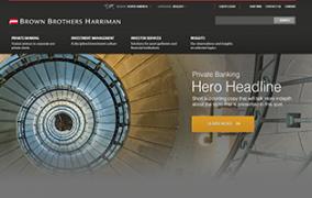 Brown Brother Harriman<br>UI Visuals: 16 page Website